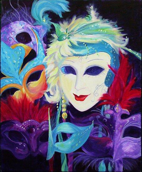 Carnival Masks by Maureen Whittaker