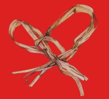 Twisted Twine Heart T-shirt by Mariana Musa