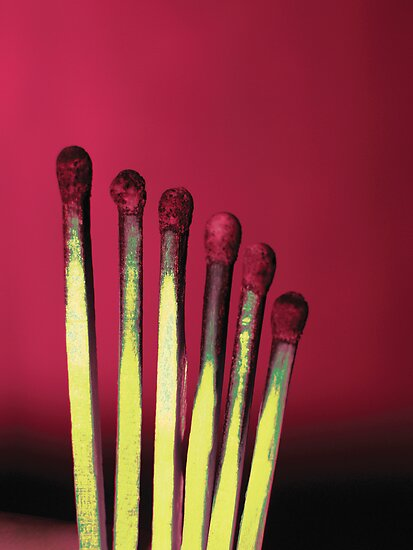 Red matches by Guy Jean Genevier