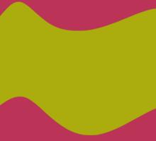 Ribbons: Fuchsia & Lime Sticker