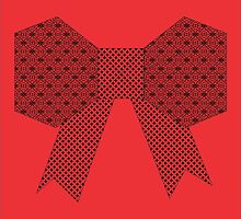 Red Fabric Bow Origami by Clau19