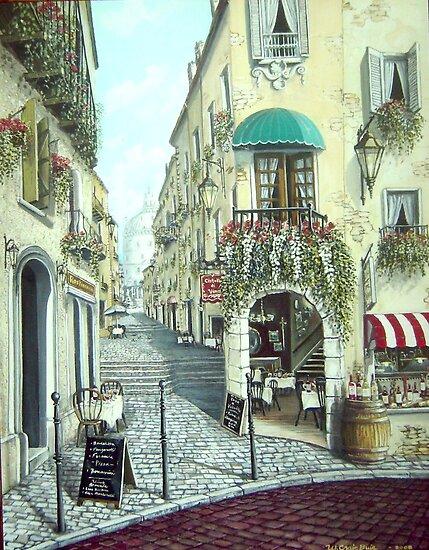 Italian Street Scene by mmdstudios