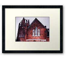 Church in Snowstorm, No. 1 Framed Print