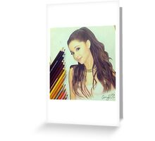 Ariana Grande Vintage Style Greeting Card
