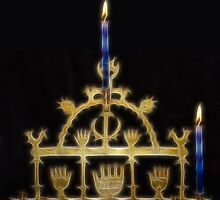 Happy Fractalius Chanukah by Jawaher