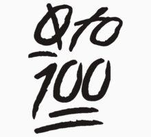 0 To 100 [Black] by scarammanga