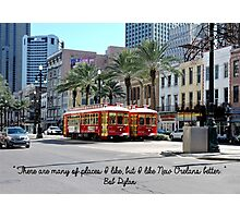 New Orleans Street Cars Photographic Print