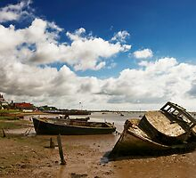 Old Boats at Orford by Rick Bowden