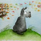 Scottie Dog 'Windy Day' by archyscottie
