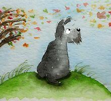 Scottie Dog 'Windy Day' by archyscottie