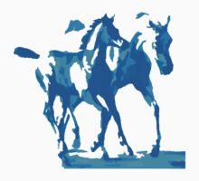 Arabian mare with foal (indigo) by Nina Smart