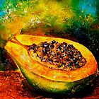 Tropics..Papaya at the George St Market by  Janis Zroback