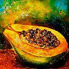 Tropics..Papaya at the George St Market by © Janis Zroback