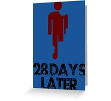 28 days later Funny Geek Nerd Greeting Card