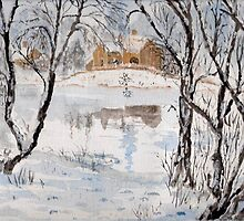 The Mill in Winter by GEORGE SANDERSON