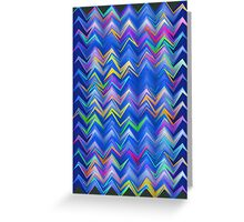 Blue zigzag Greeting Card