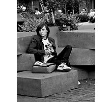 Boy on Blocks Photographic Print