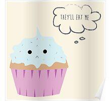Sad cupcake Poster