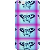 purple and blue butterflies iPhone Case/Skin