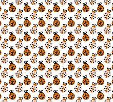 Dainty Little Orange Ladybugs by purplesensation