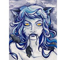 CAT GIRL, YELLOW EYES and RATS Photographic Print