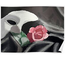 Phantom of the Opera Mask and Rose Poster