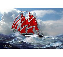 The Clipper Ship Indian Queen in Rough Seas - all products Photographic Print