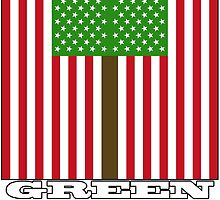 """GREEN PARTY US FLAG"" by O O"