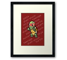 Squirtle Turtle - Raph Framed Print