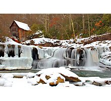 Frozen Grist Mill #2 Photographic Print