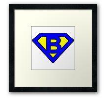 B letter Framed Print