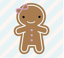 Cookie Cute Gingerbread Girl by marcelinesmith