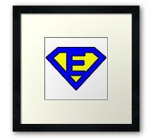 E letter Framed Print