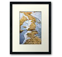 Cherry Creek Snow Melt  Framed Print