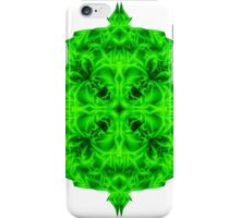 """""""Spirit of India: Blossom - Gothic Flower"""" in emerald green iPhone Case/Skin"""
