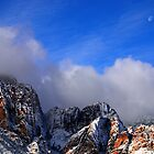 Snow and Moon, Red Rock Canyon by Benjamin Padgett