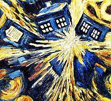 Tardis by Van Gogh - Doctor Who Nerd by markomellark