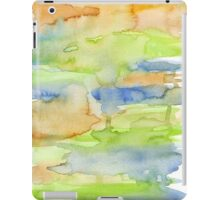 orange , blue and green watercolor colors iPad Case/Skin