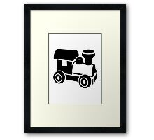 Model railroad locomotive Framed Print