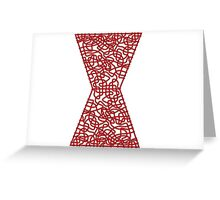 Celtic Black Widow Logo Avengers Black with Red fill Greeting Card
