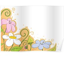 Summer flower illustration Poster