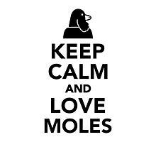 Keep calm and love moles Photographic Print