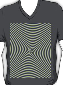 Swirl in Green Blue and Violet T-Shirt