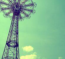 Coney Island Parachute Jump by Marina Alexis Parker