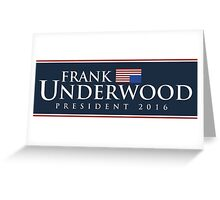 Frank Underwood Greeting Card
