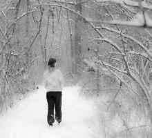 Snowy Walk in the Snowy Woods by Mark McElroy