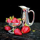 Strawberries and silver by Freda Surgenor