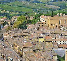 The Rooftops Of San Gimignano.............................Italy by Fara