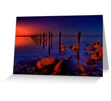 """Nightfall At The Dell"" Greeting Card"