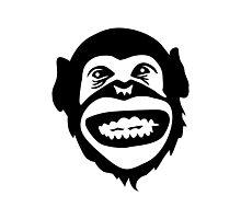 Monkey chimpanzee smile Photographic Print